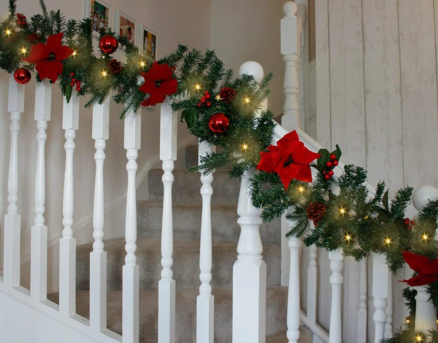 LED Decorated Christmas Garland