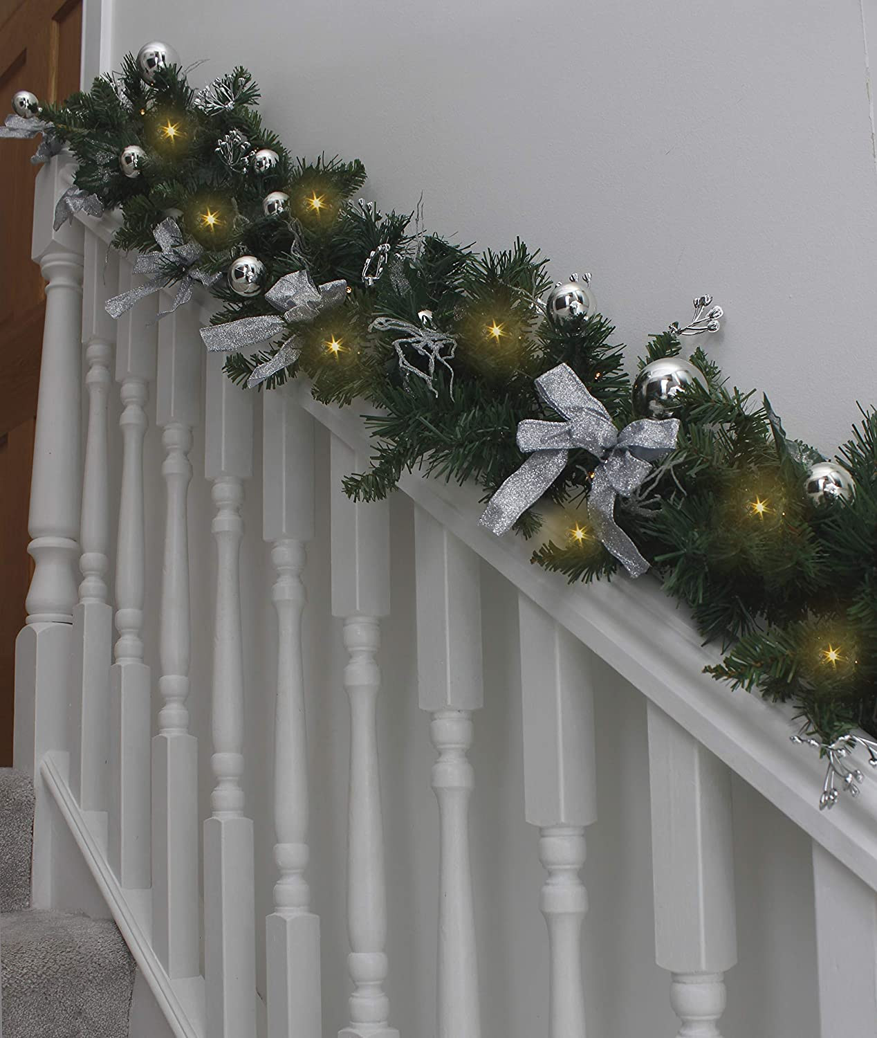 Silver Decorated Christmas Garland
