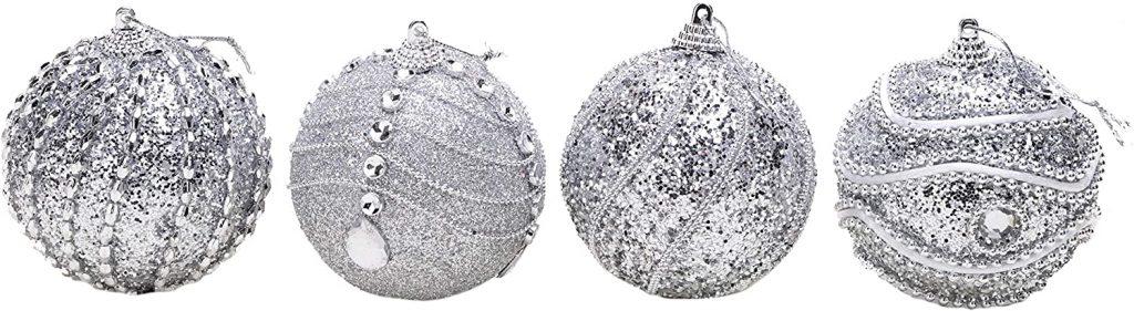 glitter christmas baubles